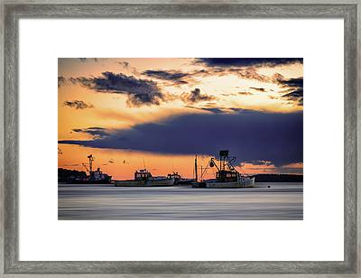Framed Print featuring the photograph At Anchor At Lookout Point by Rick Berk
