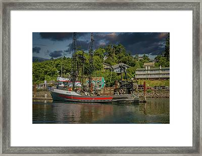 Framed Print featuring the photograph At Rest In Port by Bill Posner