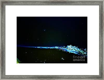 At The Dropoff Point Framed Print
