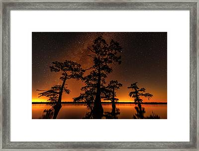 Framed Print featuring the photograph Atchafalaya Basin On Fire by Andy Crawford