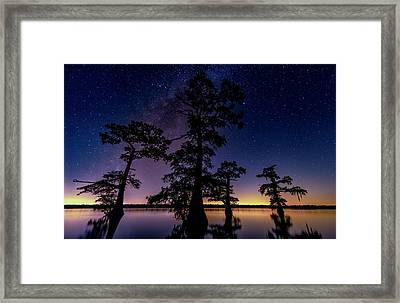 Framed Print featuring the photograph Atchafalaya Basin Under The Miky Way by Andy Crawford