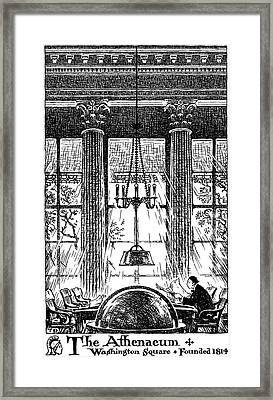 Athenaeum Reading Room Framed Print