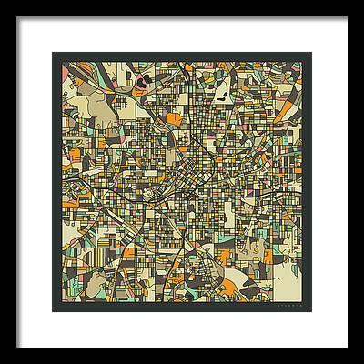 Road Map Photographs Framed Prints