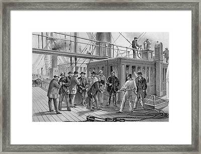 Atlantic Cable Break Framed Print by Kean Collection