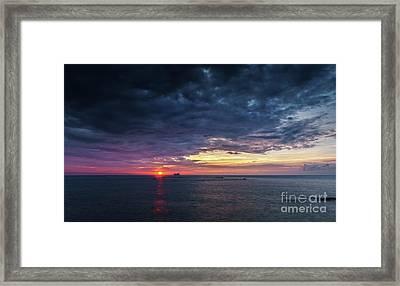 Framed Print featuring the photograph Atlantic Ocean Sunset by Pablo Avanzini