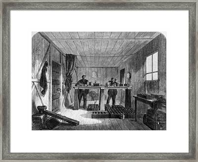 Atlantic Telegraph Framed Print by Hulton Archive