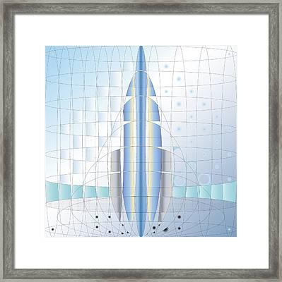 Atomic Rocket Framed Print