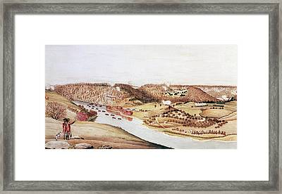 Attack On Fort Washington Framed Print by Fotosearch