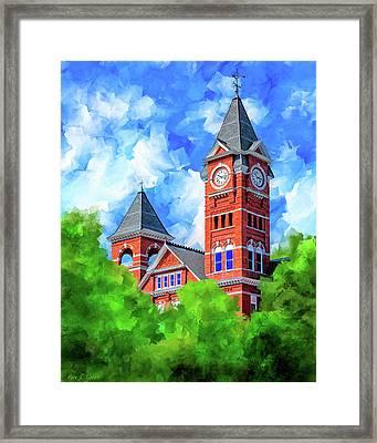 Memories Of Auburn - Samford Hall Framed Print