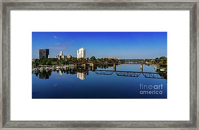 Augusta Ga Savannah River Panorama Framed Print