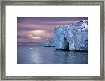 Austfonna Ice Cap Framed Print by Chase Dekker Wild-life Images