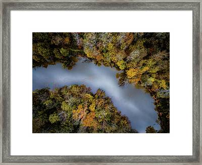 Autumn Arrives At The River Framed Print