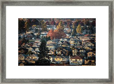 Autumn At Home Framed Print