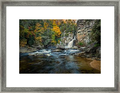 Autumn At Linville Falls - Linville Gorge Blue Ridge Parkway Framed Print