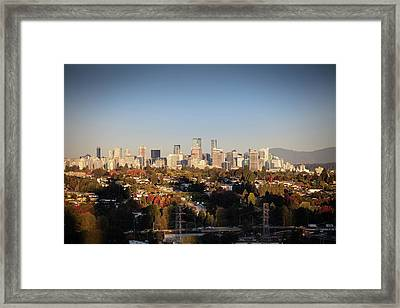 Autumn At The City Framed Print