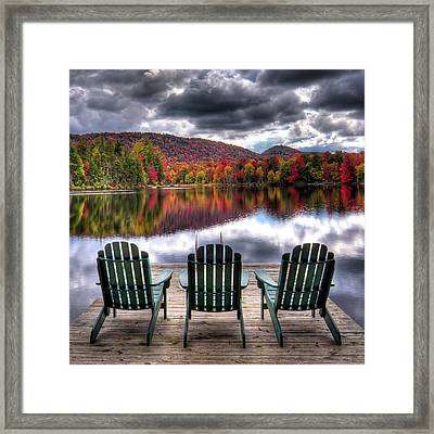Framed Print featuring the photograph Autumn At The Lake by David Patterson