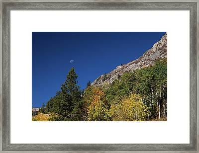 Framed Print featuring the photograph Autumn Bella Luna by James BO Insogna