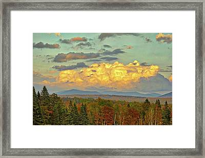 Autumn Clouds Over Maine Framed Print
