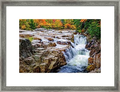 Autumn Color At Rocky Gorge Framed Print