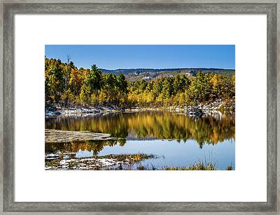 Framed Print featuring the photograph Autumn Cove At Ivie Pond by TL Mair