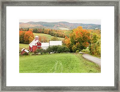 Framed Print featuring the photograph Autumn From The Bogie Mountain Farm - Vermont by Expressive Landscapes Fine Art Photography by Thom