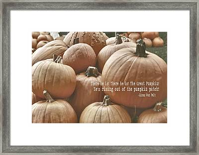 Autumn Harvest Quote Framed Print by JAMART Photography