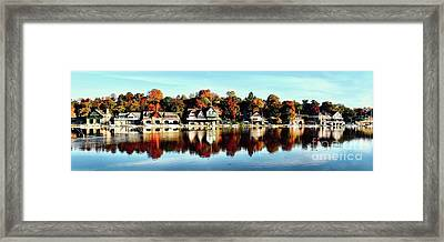 Autumn Houses Framed Print by Stacey Granger