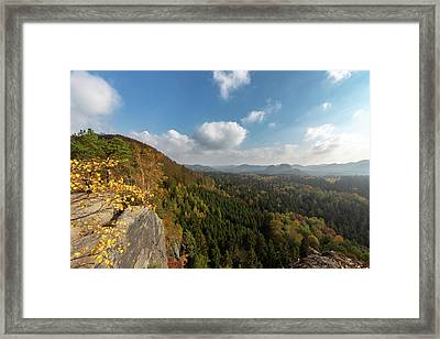 Framed Print featuring the photograph Autumn In The Elbe Sandstone Mountains by Andreas Levi