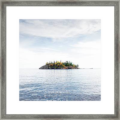Framed Print featuring the photograph Autumn In The Lake by Whitney Leigh Carlson