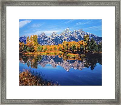 Autumn In The Snake River Valley Grand Framed Print by Ron thomas