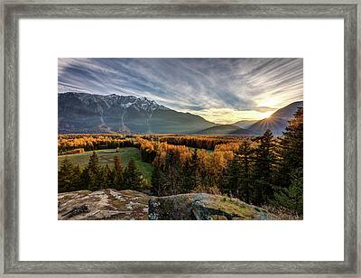 Framed Print featuring the photograph Autumn In The Valley Of Pemberton by Pierre Leclerc Photography