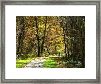 Autumn Jogger Framed Print