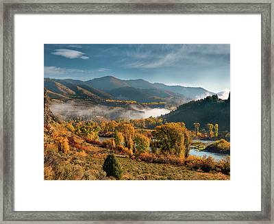 Autumn Light Along The Snake River Framed Print