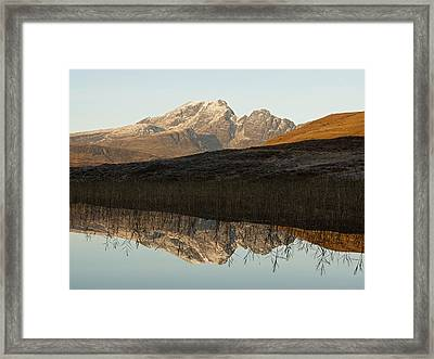 Framed Print featuring the photograph Autumn Meets Winter At Blaven by Stephen Taylor