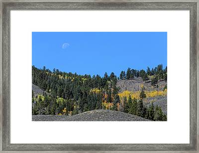 Framed Print featuring the photograph Autumn Moon by James BO Insogna