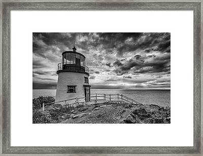 Framed Print featuring the photograph Autumn Morning At Owls Head Black And White by Rick Berk