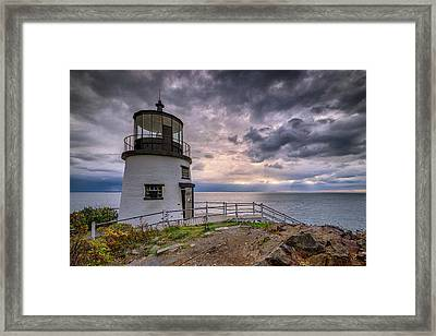 Framed Print featuring the photograph Autumn Morning At Owls Head by Rick Berk