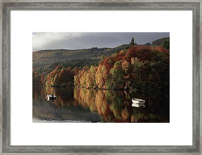 Framed Print featuring the photograph Autumn Morning by Grant Glendinning
