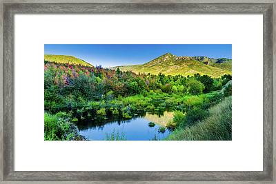Framed Print featuring the photograph Autumn On The Little Deer Creek by TL Mair