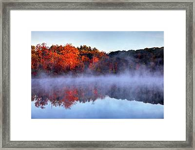 Autumn On Turtle Pond In Bostons West Framed Print by Denistangneyjr