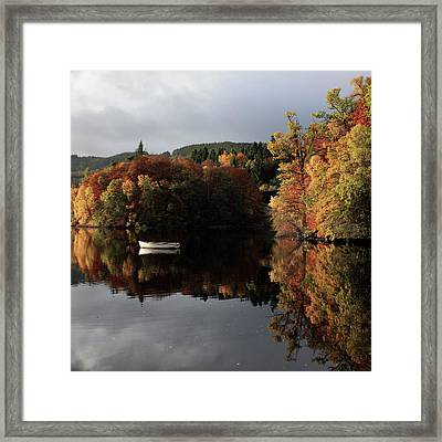 Framed Print featuring the photograph Autumn Reflections by Grant Glendinning