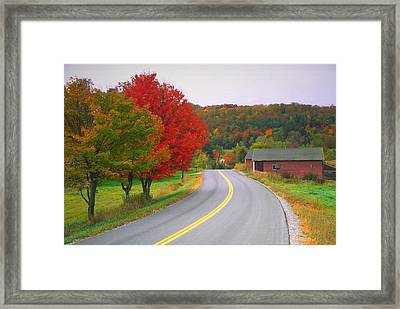 Autumn Road Framed Print by Denistangneyjr