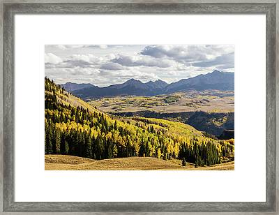 Framed Print featuring the photograph Autumn Season View Of Sneffles Ten Peak by James BO Insogna