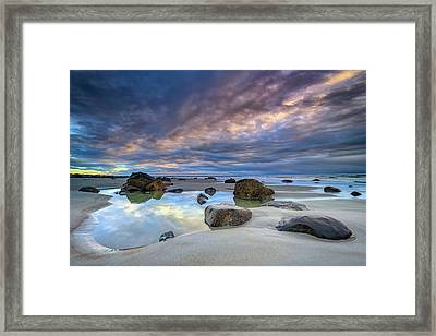 Framed Print featuring the photograph Autumn Sky At Wells Beach by Rick Berk