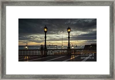 Framed Print featuring the photograph Autumn Sky La Caleta Cadiz Spain by Pablo Avanzini