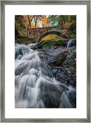 Framed Print featuring the photograph Autumn Waterfall In Hallowell by Rick Berk