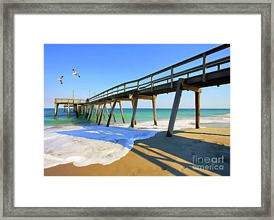 Avalon Pier Framed Print