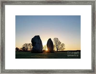 Avebury Stone Circle Sunrise Framed Print by Tim Gainey