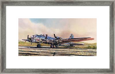 B-17g Sentimental Journey Framed Print