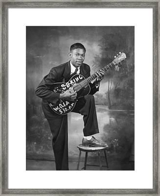 B. B. King Early Portrait Framed Print by Michael Ochs Archives